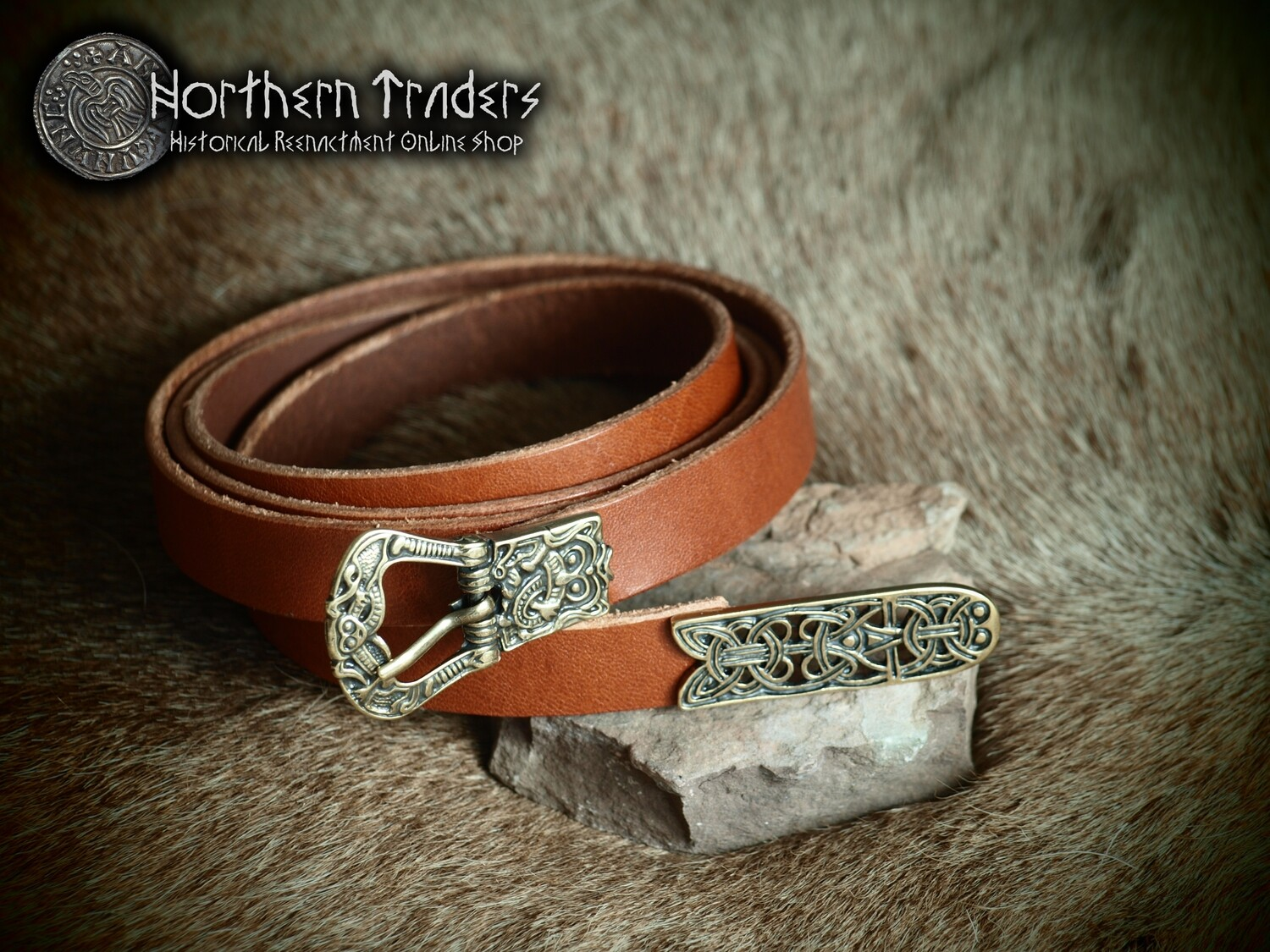 Viking Belt with Buckle and Belt End from Birka
