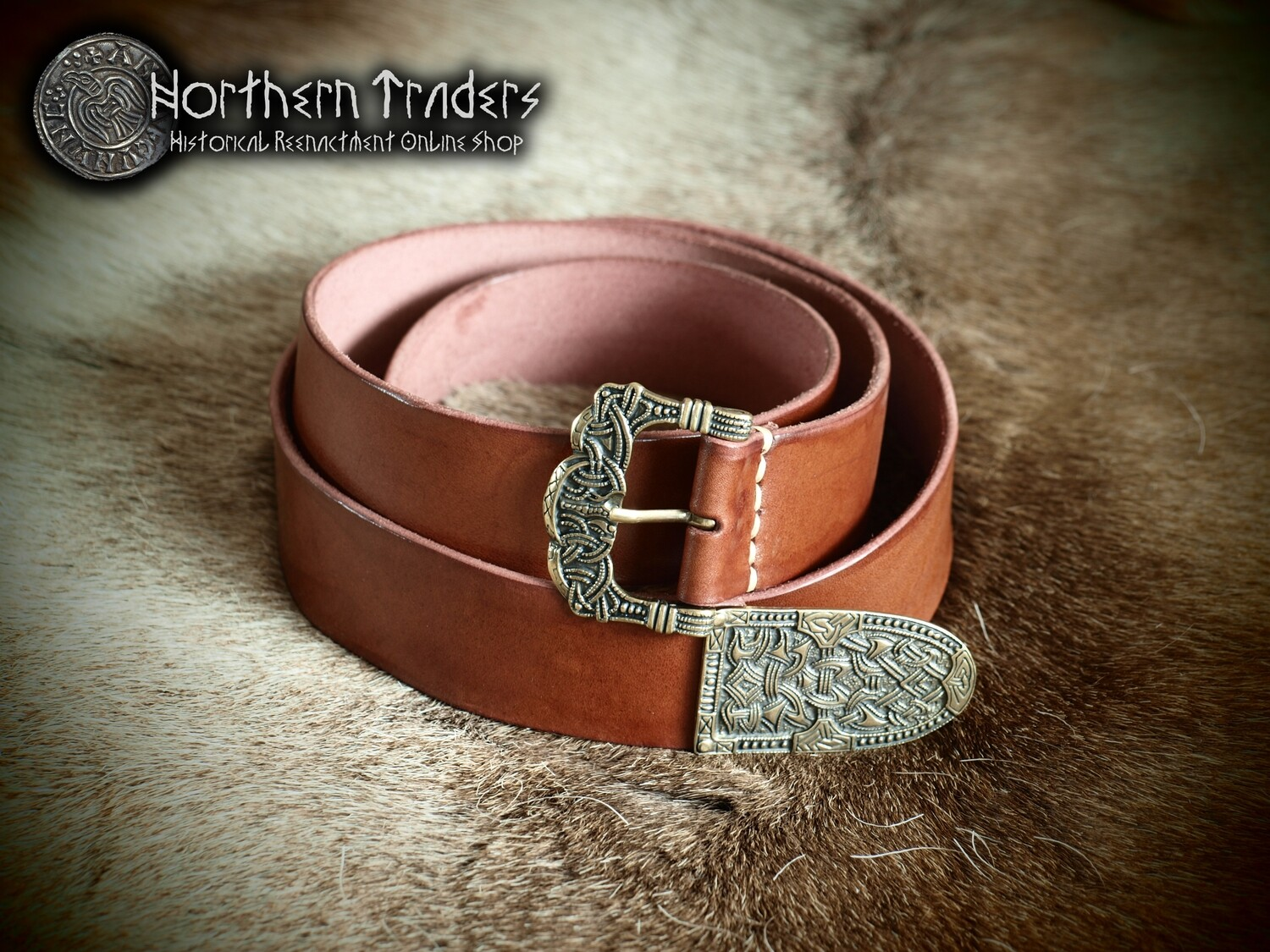 Viking Belt with Buckle and Belt End from Gokstad