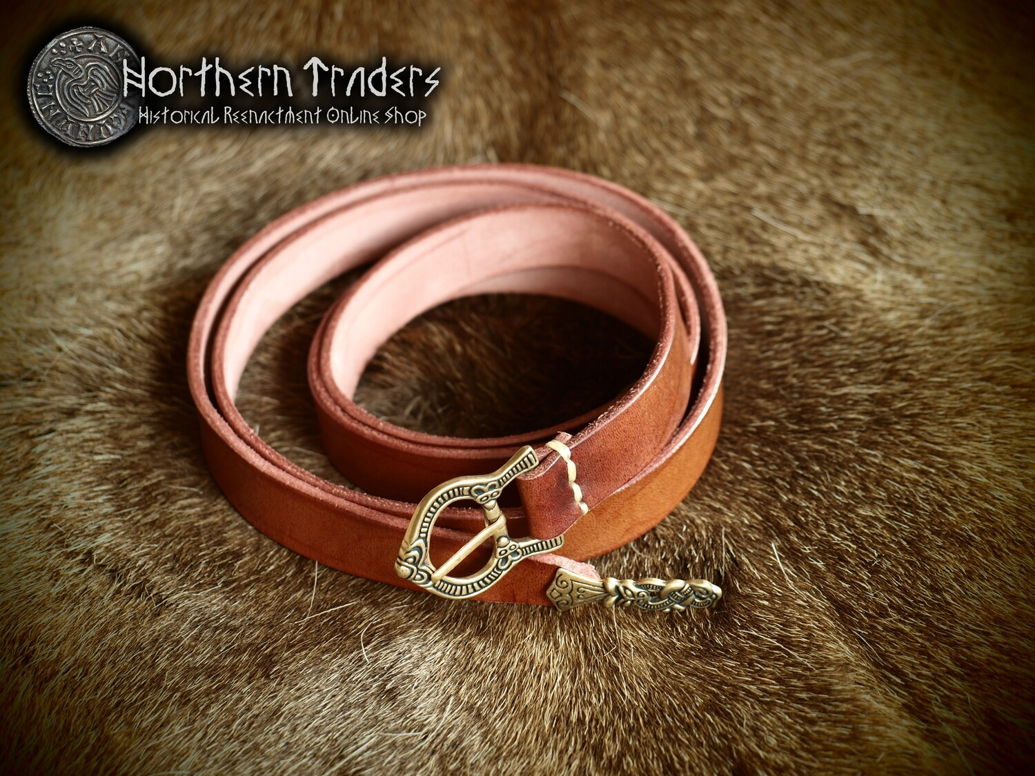 Viking Belt with Buckle and Belt End from Gotland
