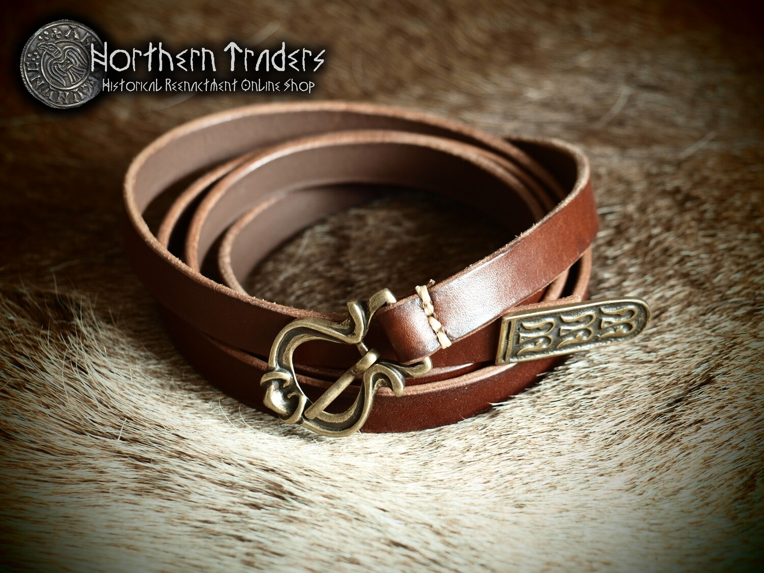 Viking Belt with Buckle and Belt End from Novgorod