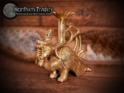 Medieval Candleholder with Dragon