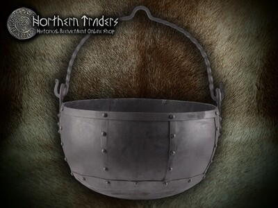Riveted Steel Cauldron from Oseberg - 29 litres