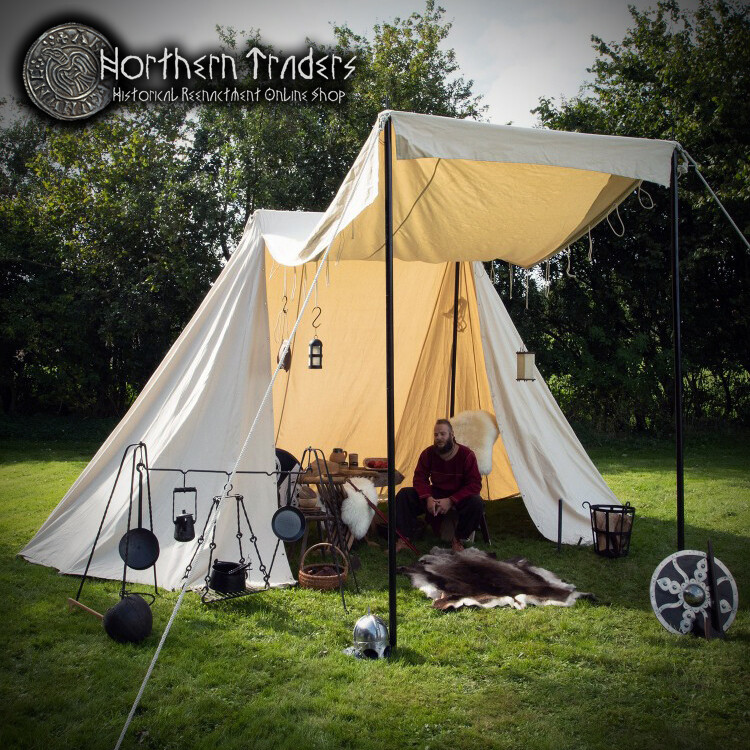 Saxon Trade Tent, 4 x 6 m - Cotton 425 gms