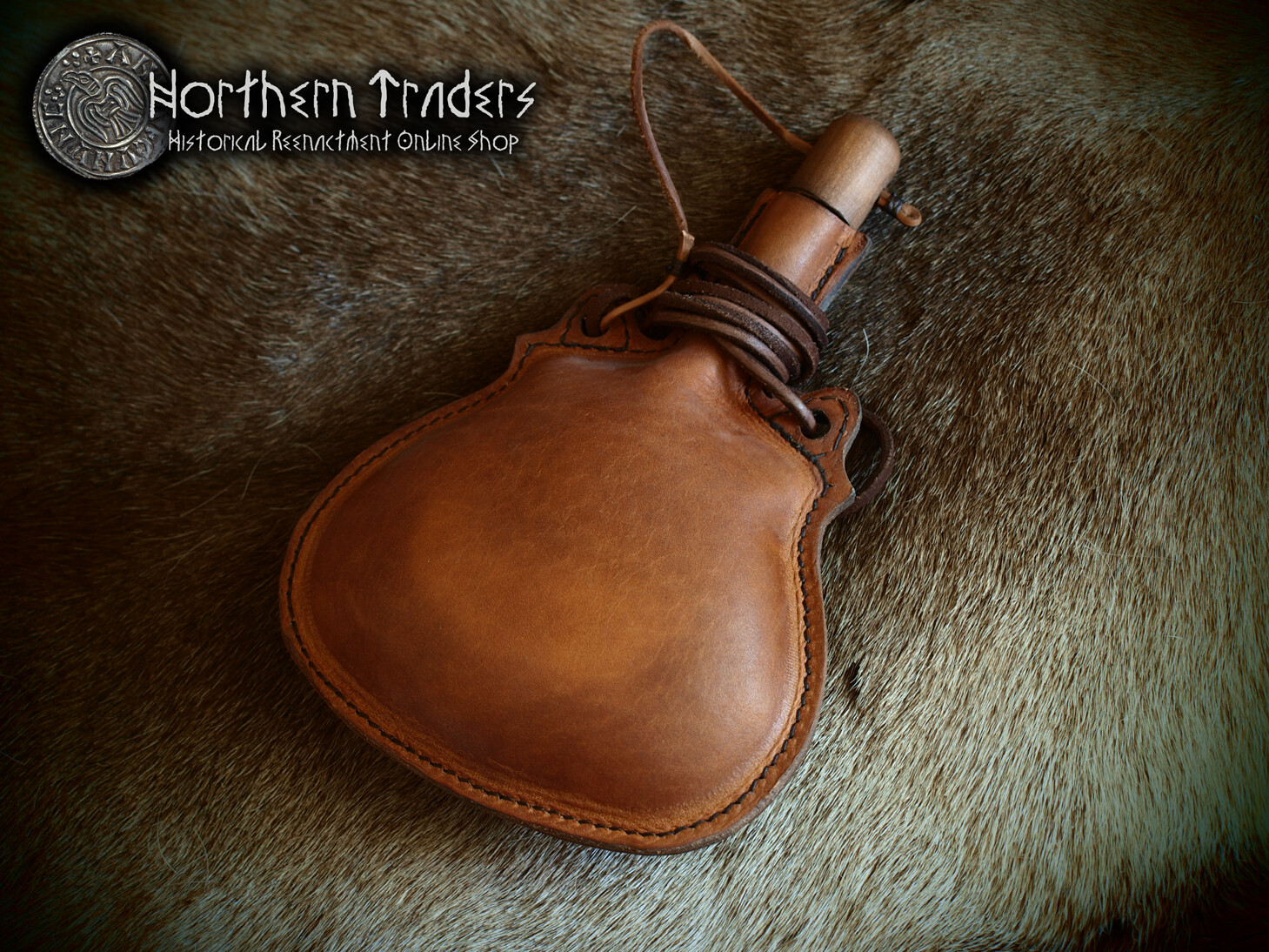 Leather Canteen - 0.7 liter