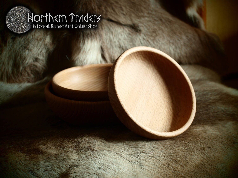 Medieval Wooden Bowl - 23 cm