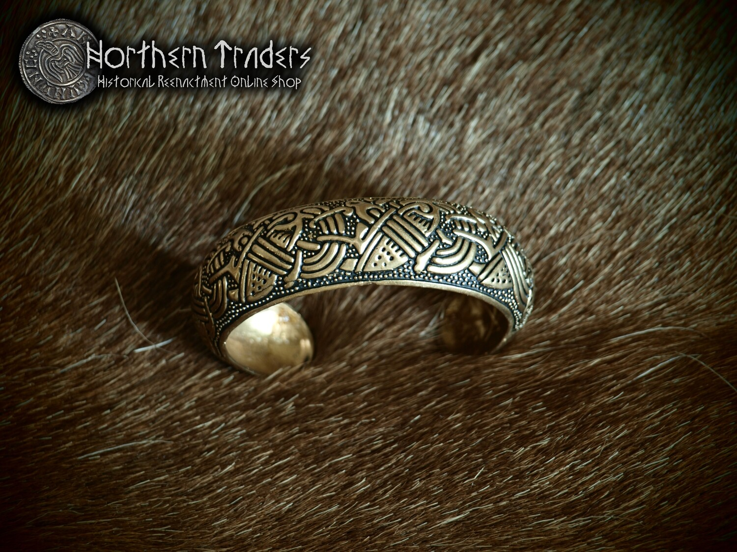 Celtic Bracelet with Interlaced Beasts