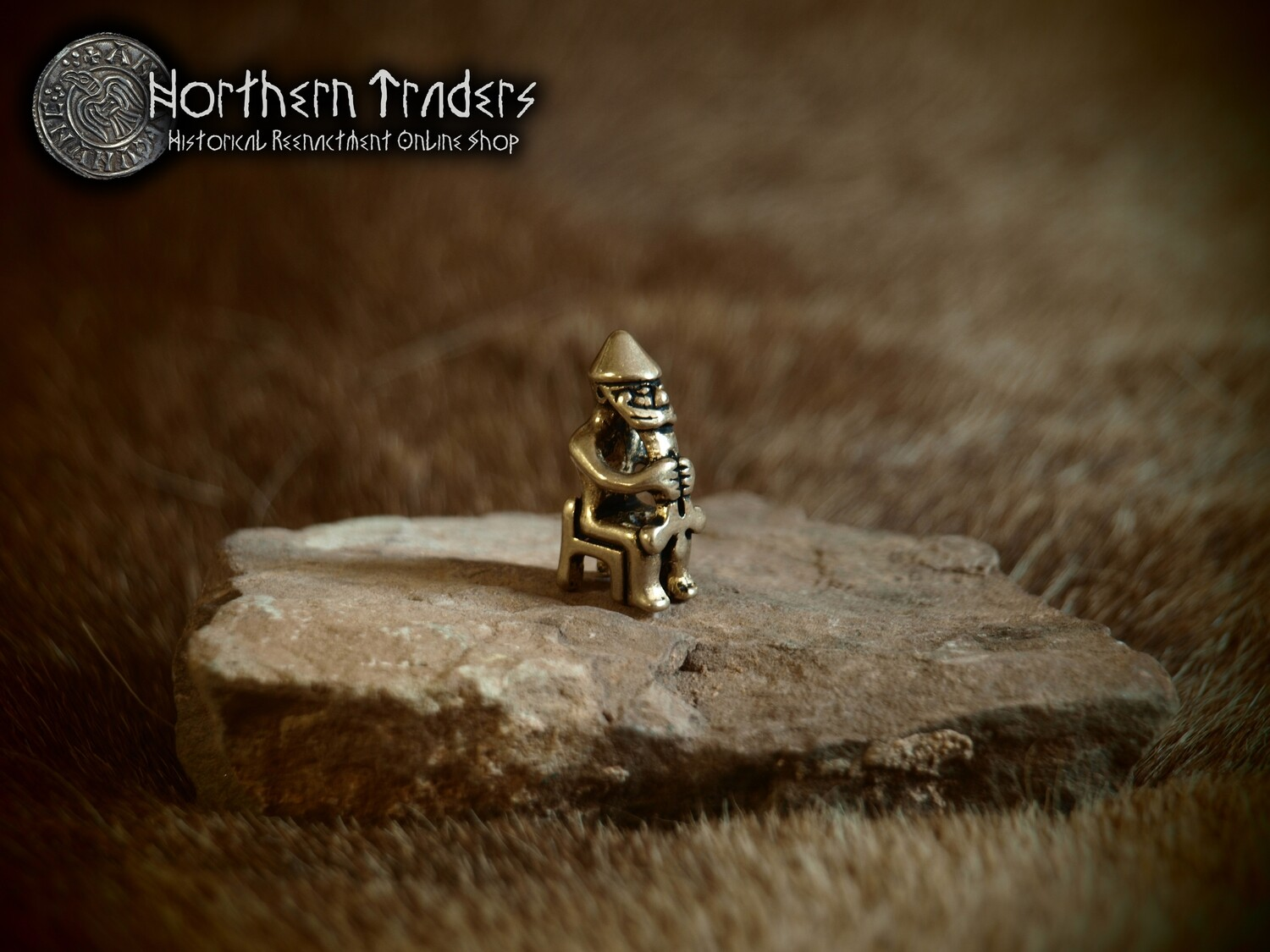 Mini Thor Statuette from Eyrarland - Pendant Size