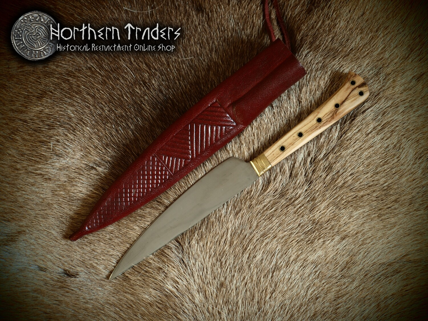Medieval Knife - Deluxe Version with Decorated Sheath