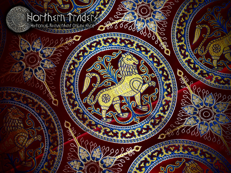 Silk Brocade with Lion from Esztergom