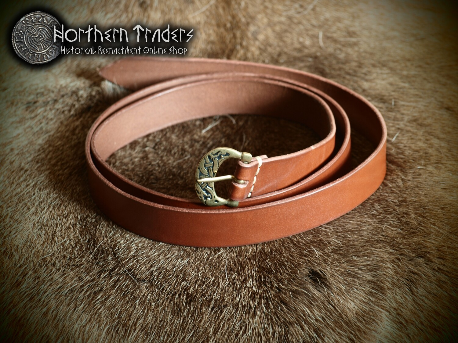 Viking Belt with Buckle in Oseberg Style