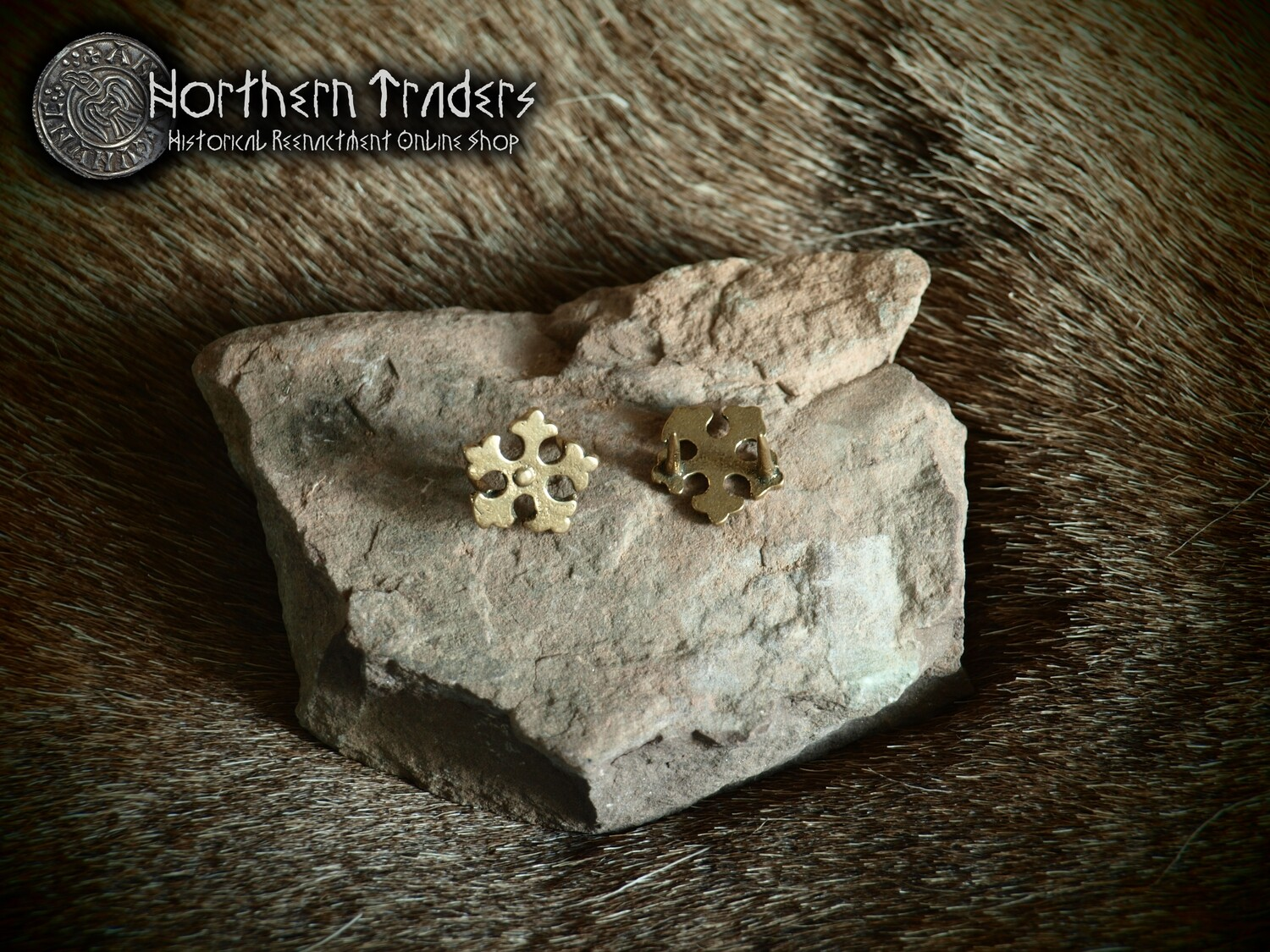 """Late Medieval Belt Studs """"Star"""" - 5 Pieces"""
