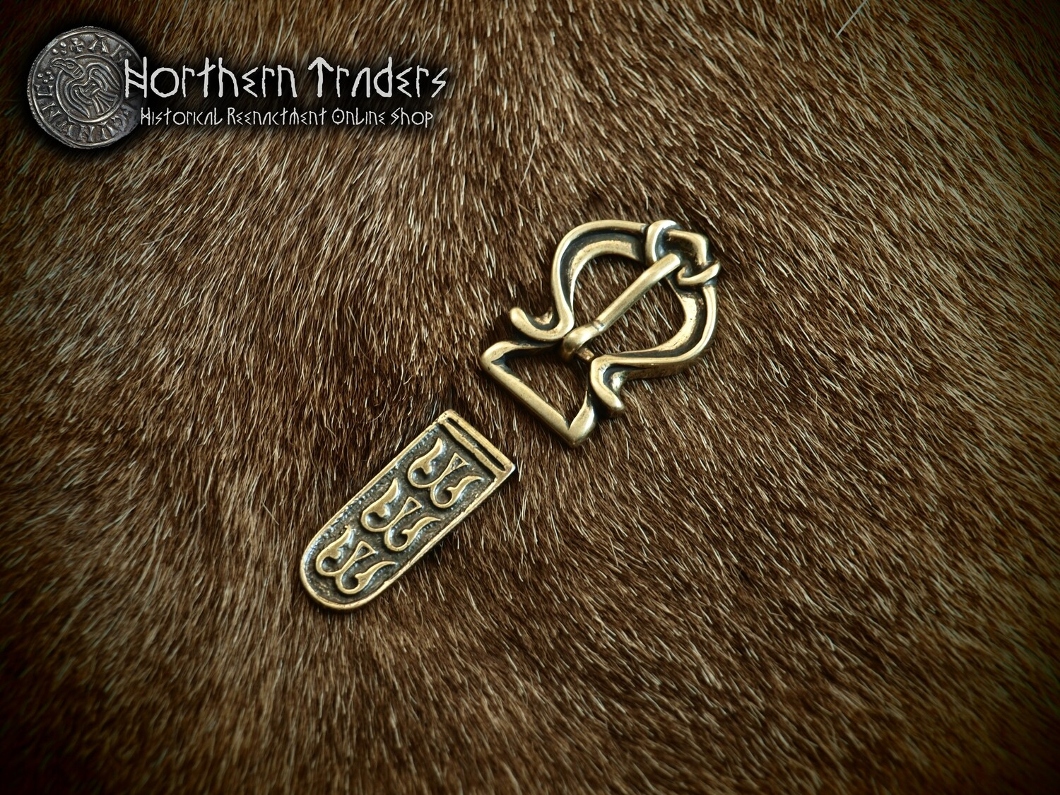 Viking Buckle and Belt End from Novgorod