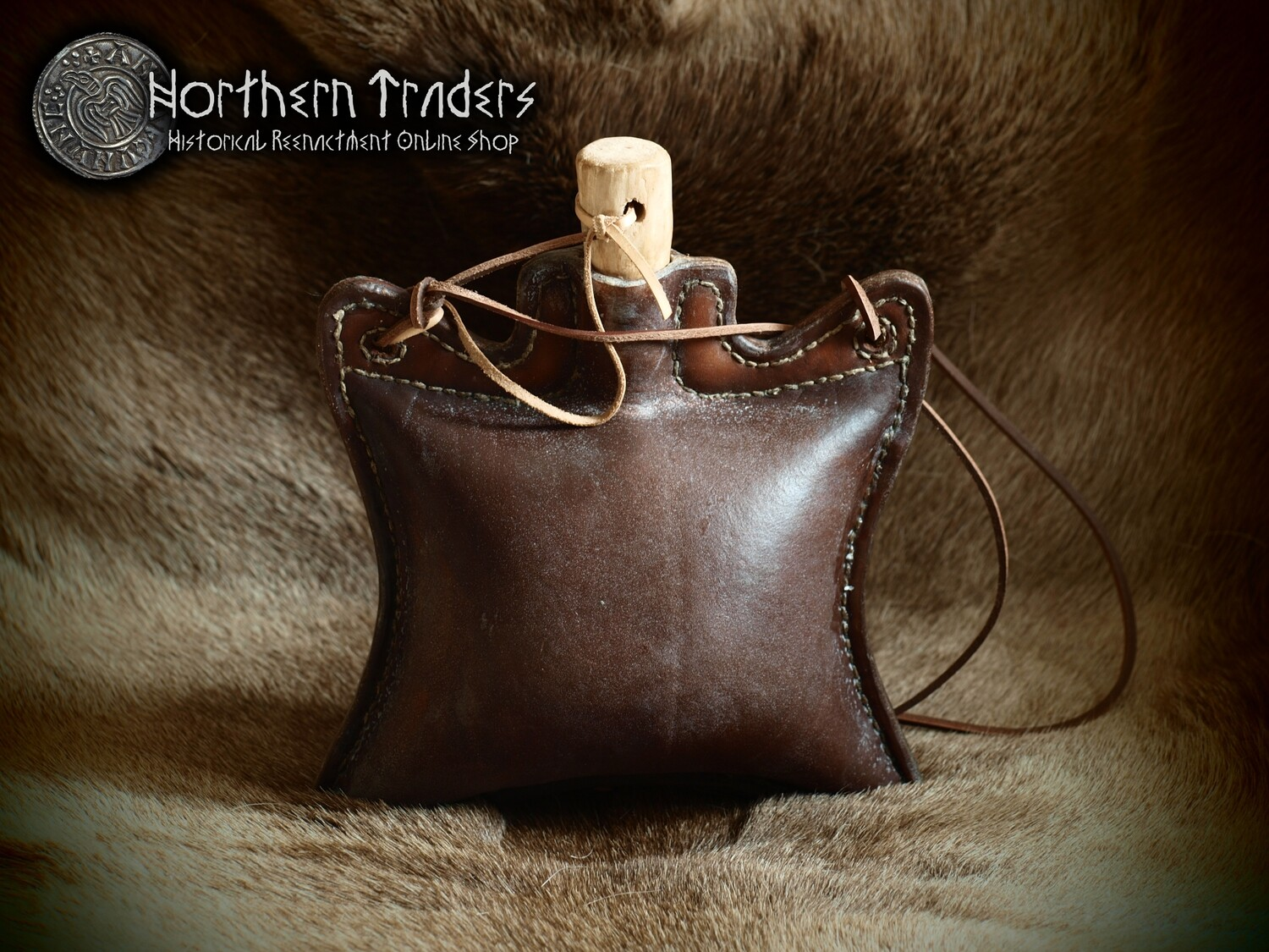Leather Canteen - 1.2 liter