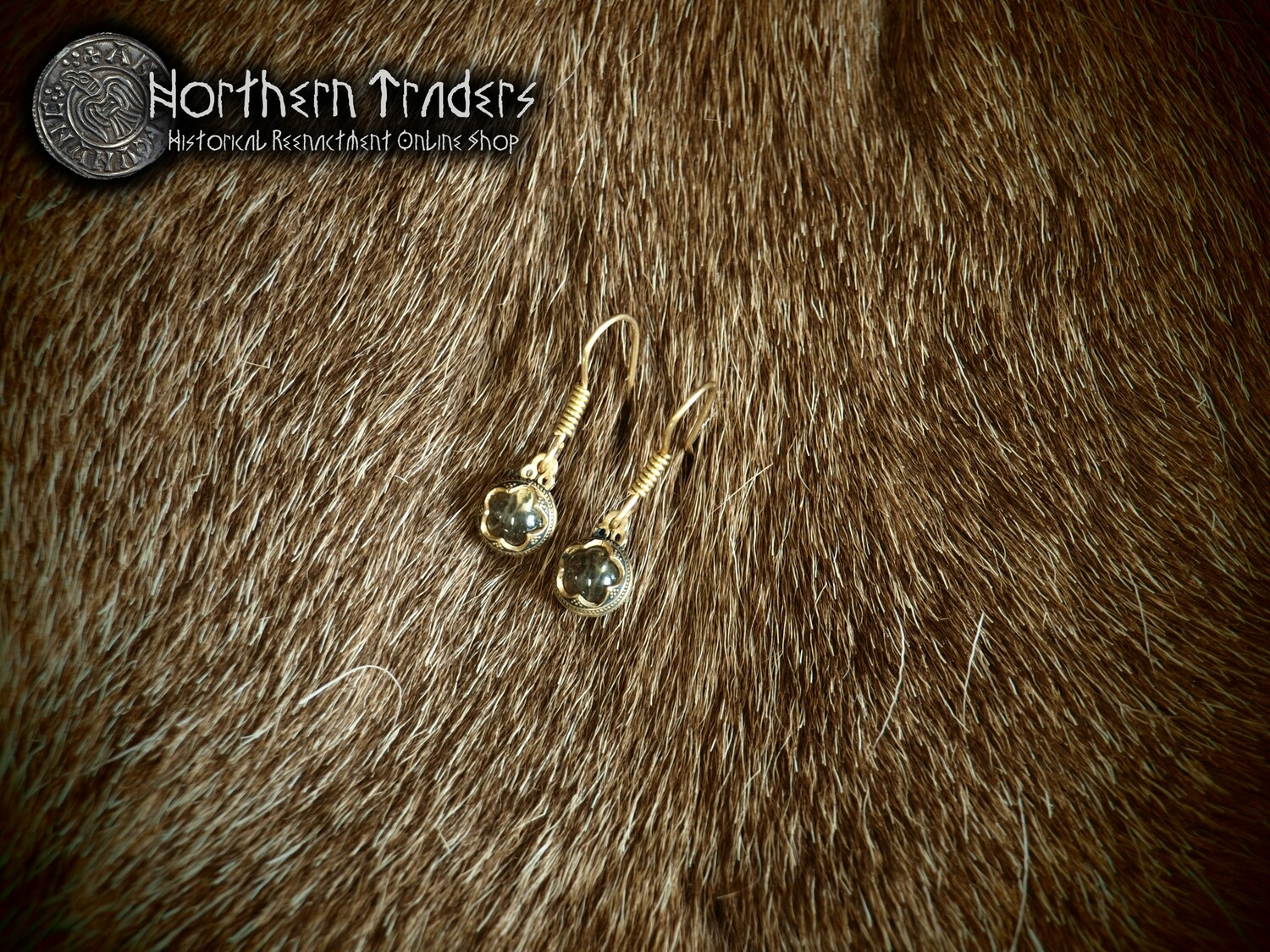 Crystal Sphere Earrings from Gotland - Small