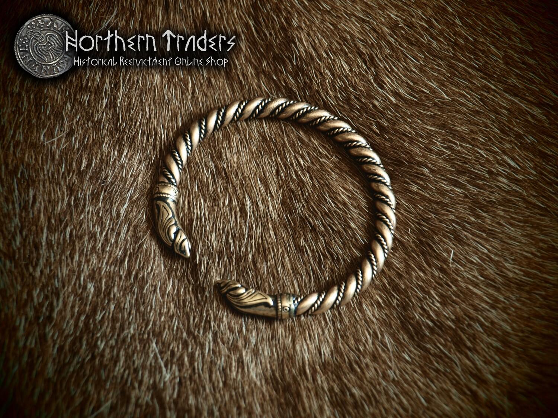 Viking Bracelet with Dragon Heads in Ringerike Style