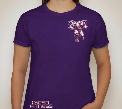 Purple Lycan Women's Fitness T- Shirt
