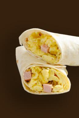 Breakfast Ham & Egg Burrito