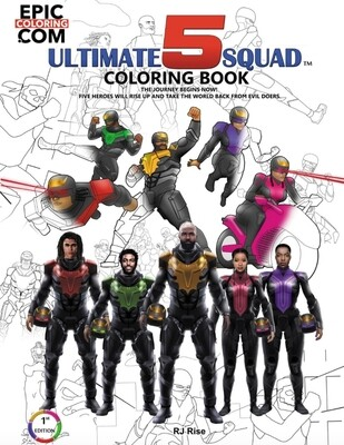 Ultimate 5 Squad: Coloring Book