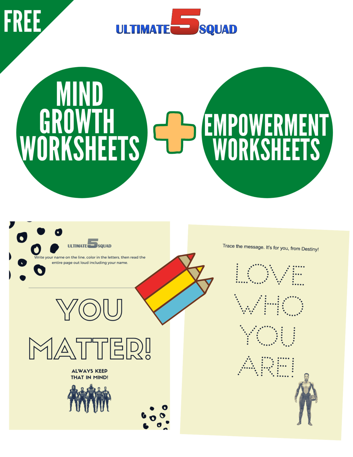 FREE Mind Growth and Empowerment Printable Worksheets
