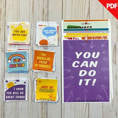 Bundle: 54 Empowerment Poster + 60 Daily Empowerment Notes Downloadable PDFs