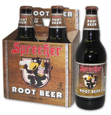 Sprecher Root Beer 4 pack.