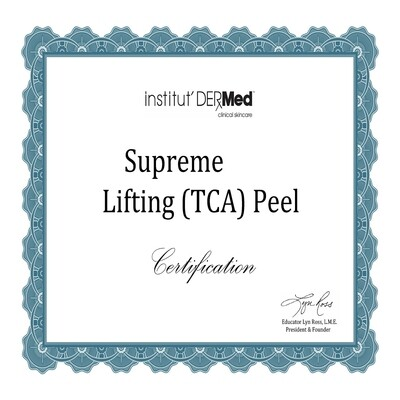 Online Supreme (TCA) Lifting Chemical Peel Training