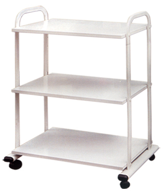 Wood Cart with 3 Shelves