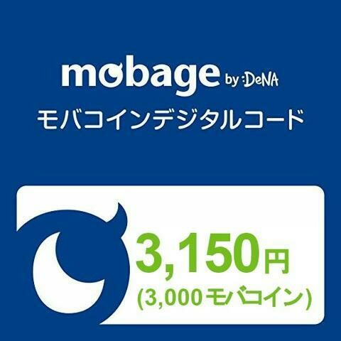 Mobage MobaCoin Card 3150JPY 3000MobaCoin
