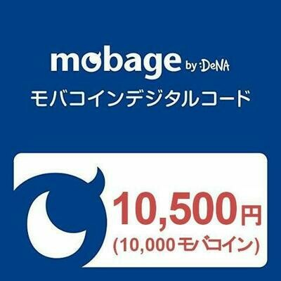 Mobage MobaCoin Card 10500JPY 10000MobaCoin