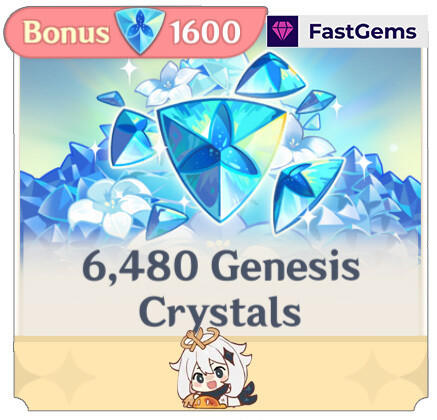 FastGems Genshin Impact - 8080 Crystals Top-up Service