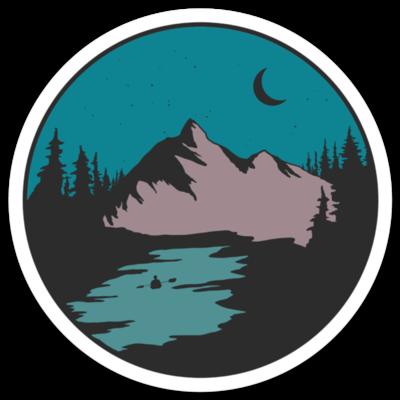 Mountain & Lake Sticker