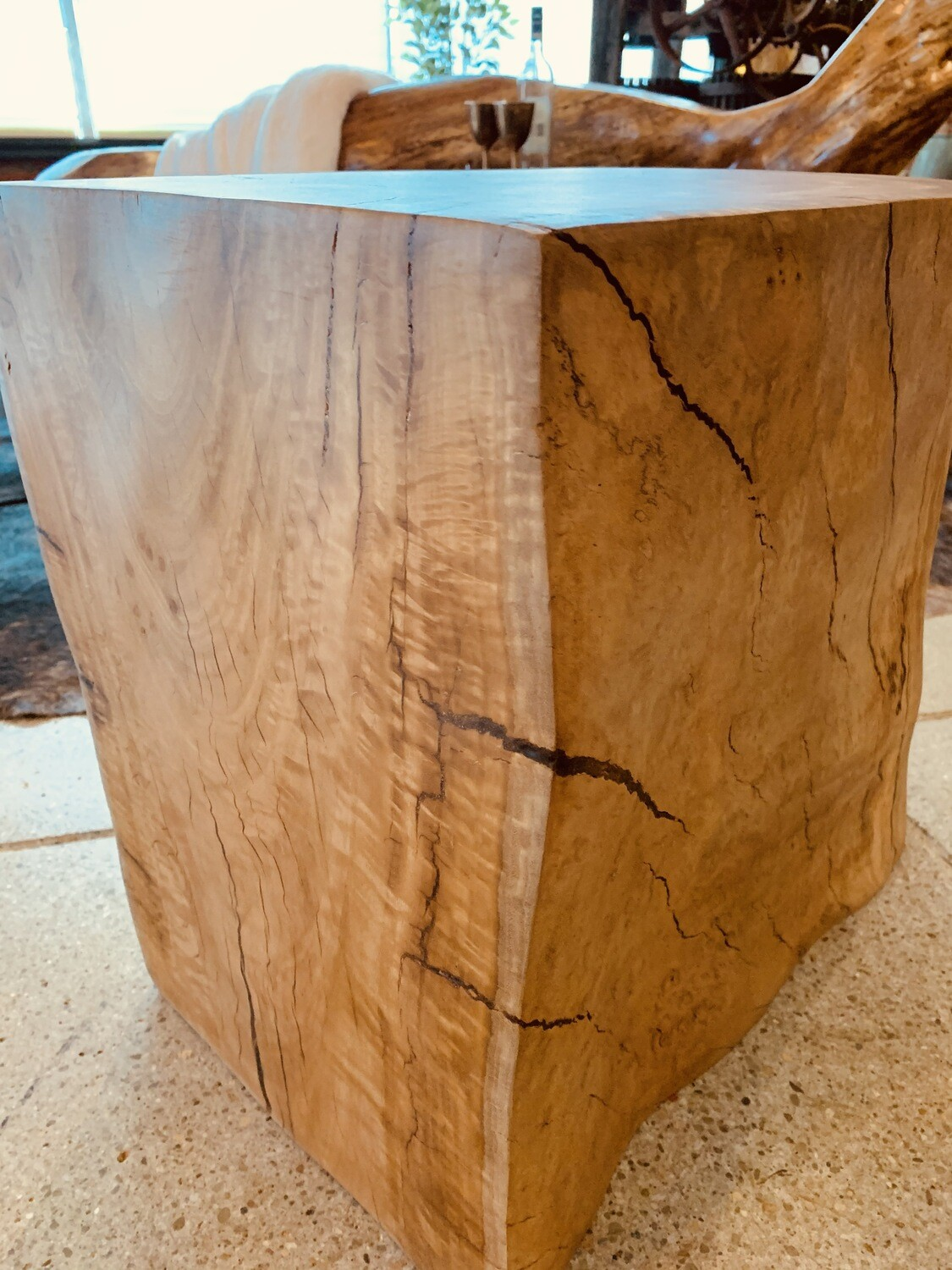 Tree Round Side/End Table - Cascade
