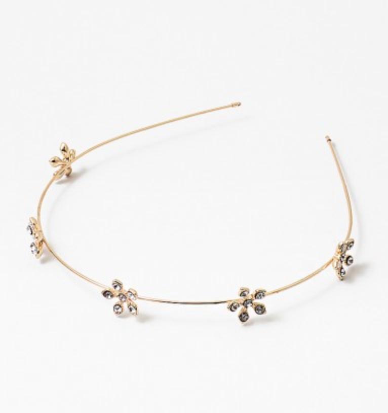 Gold Flower Headband