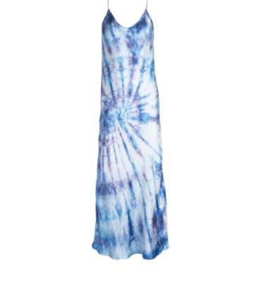 Bullseye Dyed Silk Slip Dress