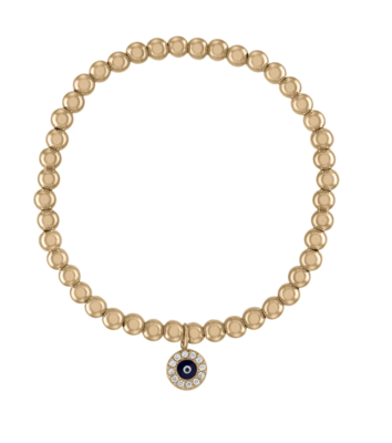 Evil Eye Gold Ball Bracelet