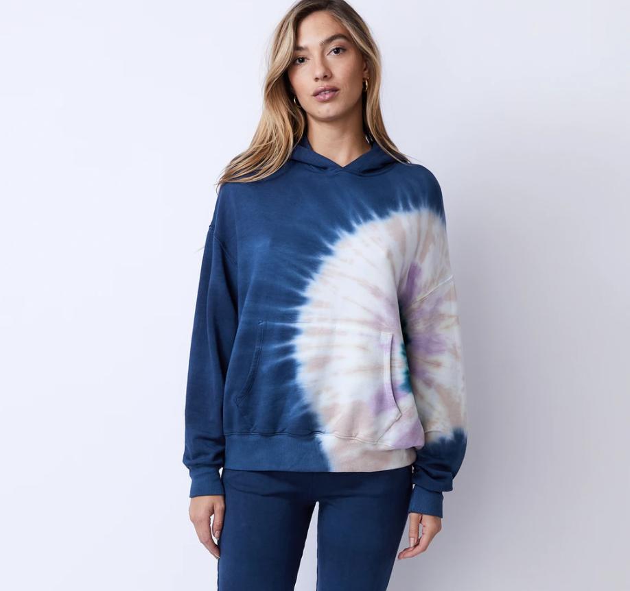 Circular Tie-Dye Slouchy Pullover