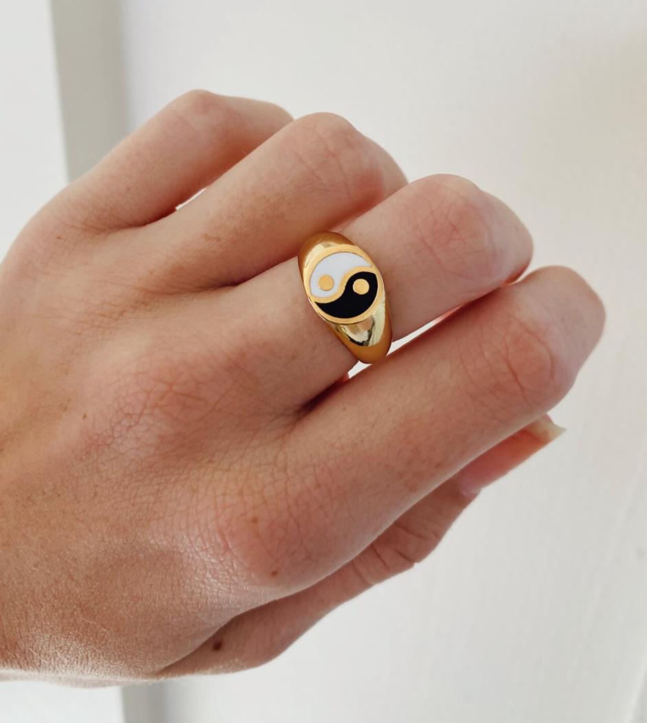 Gold Yin Yang Ring