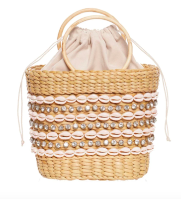 Mak Party Mini Tote With Shell Embellisment