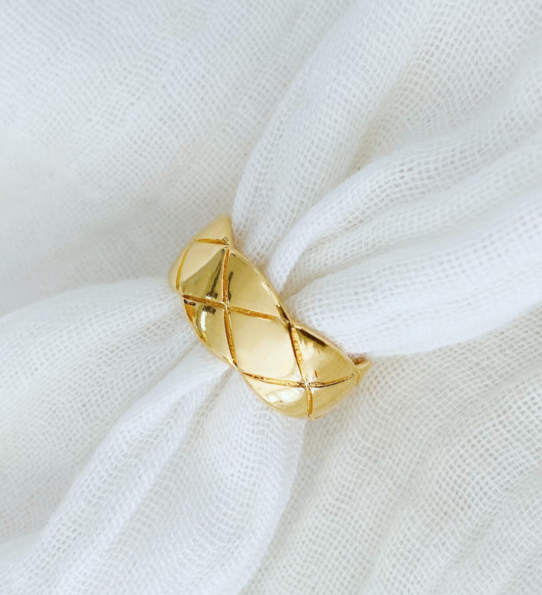 Quilted Puff Ring