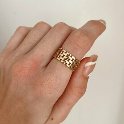 Gold Woven Ring