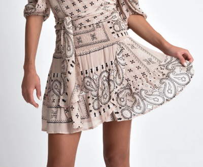 Lolita Bandana Print Ruffle Hem Mini Skirt