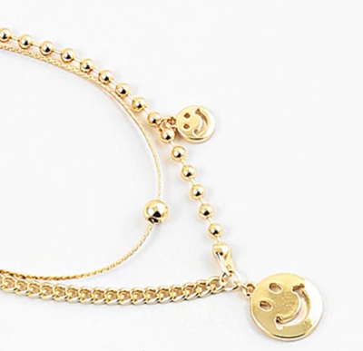 Layered Gold Smile Necklace