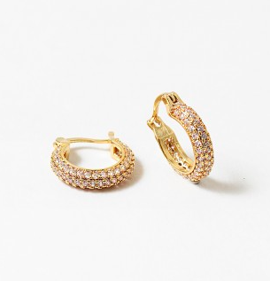 Small Pave Hoop