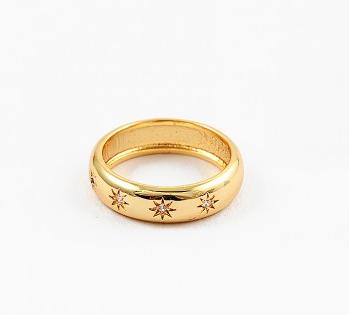 Gold Starburst Ring