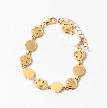 Smiley Circle Chain Bracelet