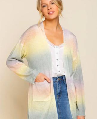 Rainbow Knit Cardigan