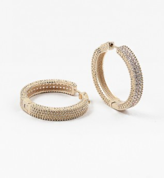 Thick Small Gold Cubic Hoops