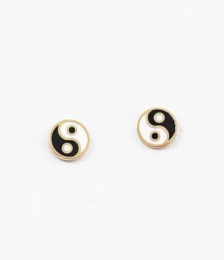Gold Yin Yang Studs