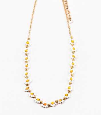 Gold Yellow Daisy Necklace