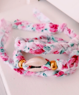 Hibiscus Wrap Bracelet